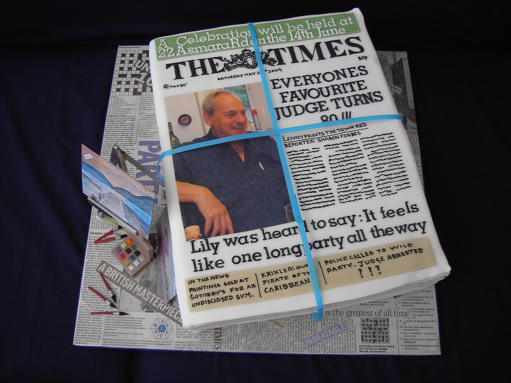 Edible Newspaper Cake A Stack Of Newspapers With The