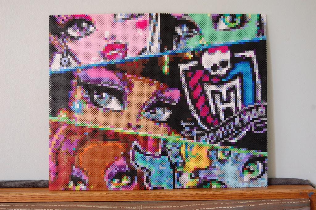 Monster High Perler Bead Art Perler Mosaic Art Size 100 X Flickr