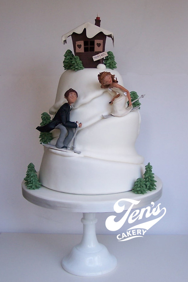 Ski Slope Wedding Cake This Is For Lorna And Chris