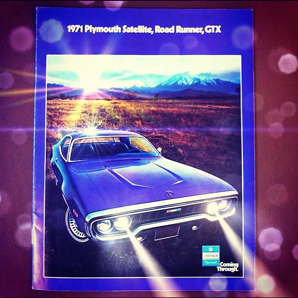 Plymouth Runner Gtx Purple Road