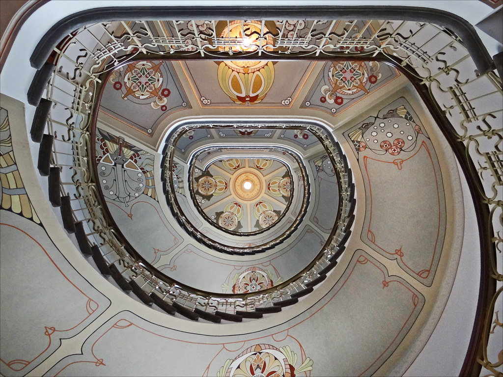 Escalier D Un Immeuble Art Nouveau Riga Escalier 224 Vis
