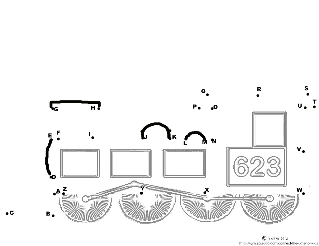 Free Printable Connect The Dots Steam Train