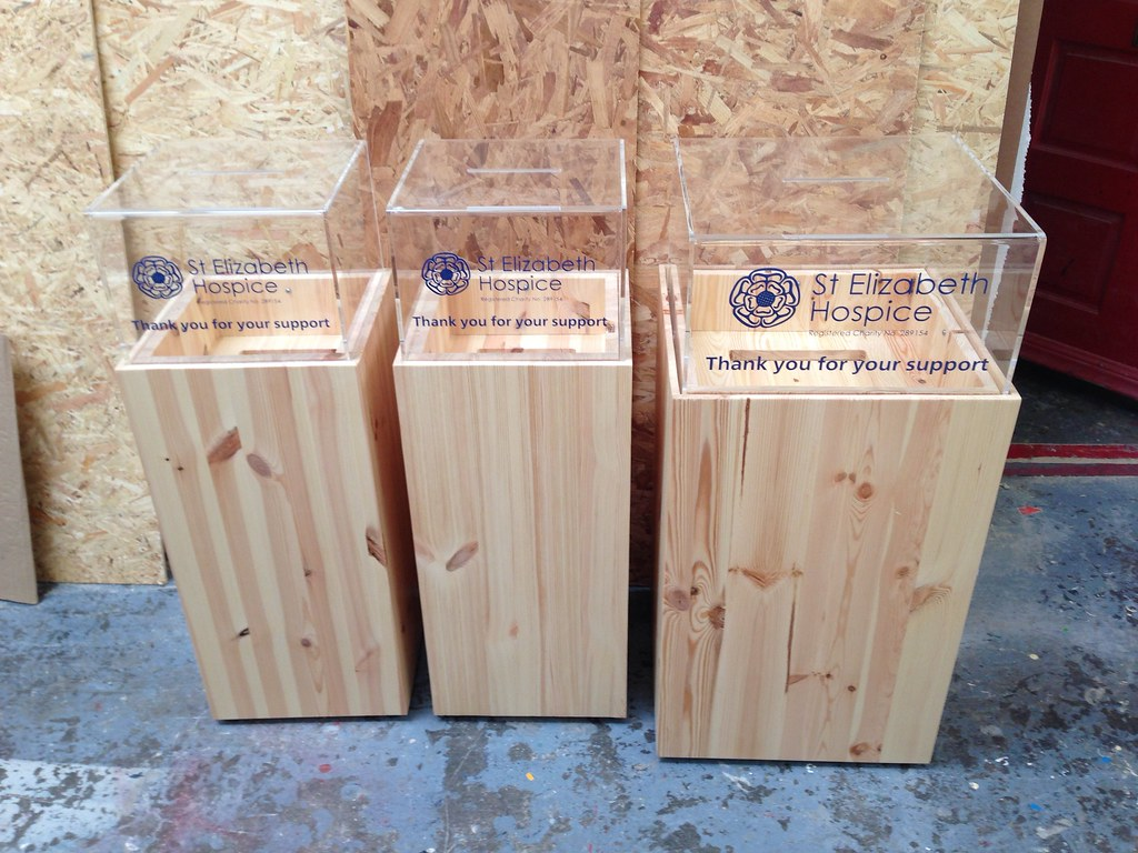 Wooden Donation Boxes Natural Wood Donation Boxes All
