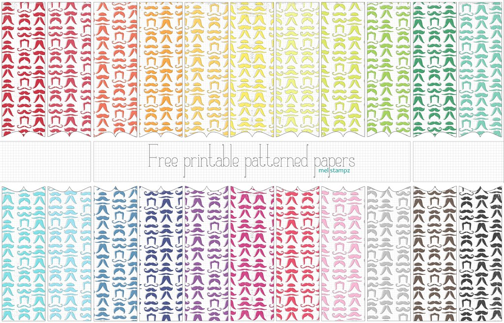 Mustache Papers Free Printable Digital Patterned Paper S