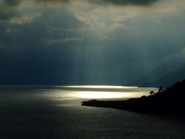 Lights in the lake Lake Atitlán, Sololá, Guatemala