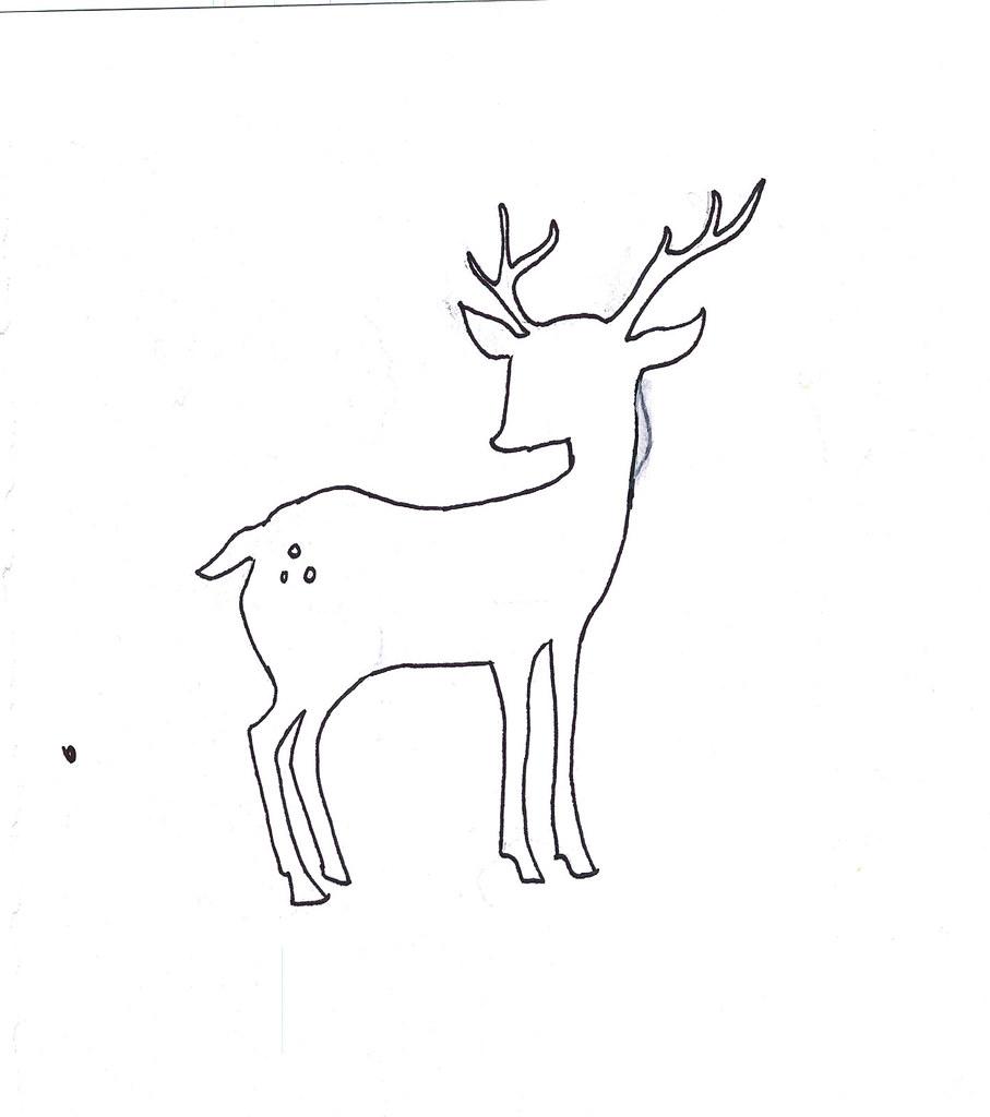 Deer Antler Art Clip