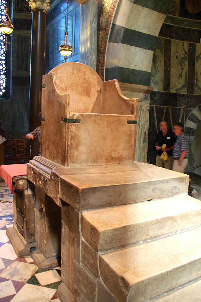 Throne Of Charlemagne In Aachen Cathedral The Throne Of