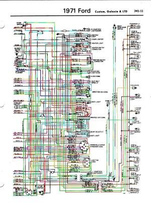 1971 Ford LTD wiring diagram rear | 1971 Ford LTD wiring