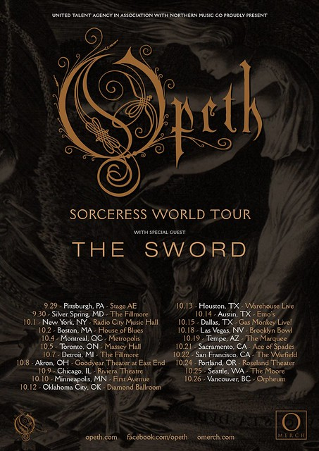 Opeth and The Sword at the Fillmore Silver Spring