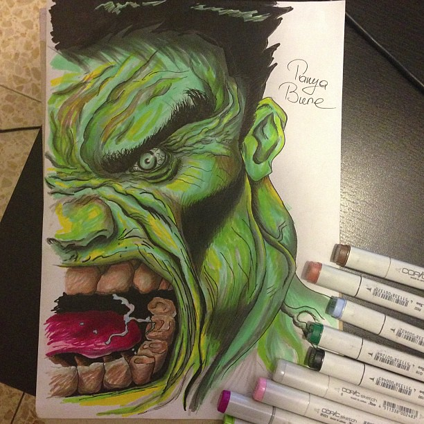Hulk Created With Copic Markers Sweet Dreams Everyone