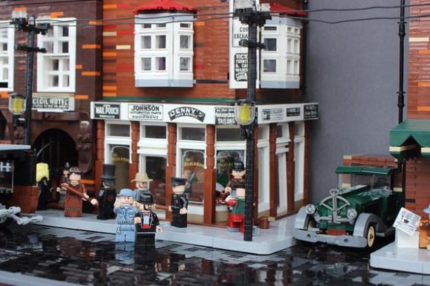 LEGO vintage street scene