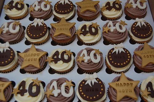 40th Birthday Cupcakes Beautiful Birthday Cakes