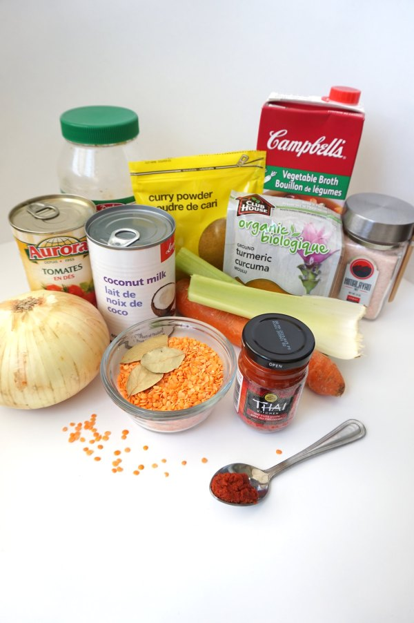 Red Lentil Curry Mise en Place | thelittleredspoon.com