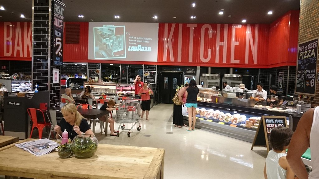 Pizza And Seating Area The Kitchen Coles Southland Flickr