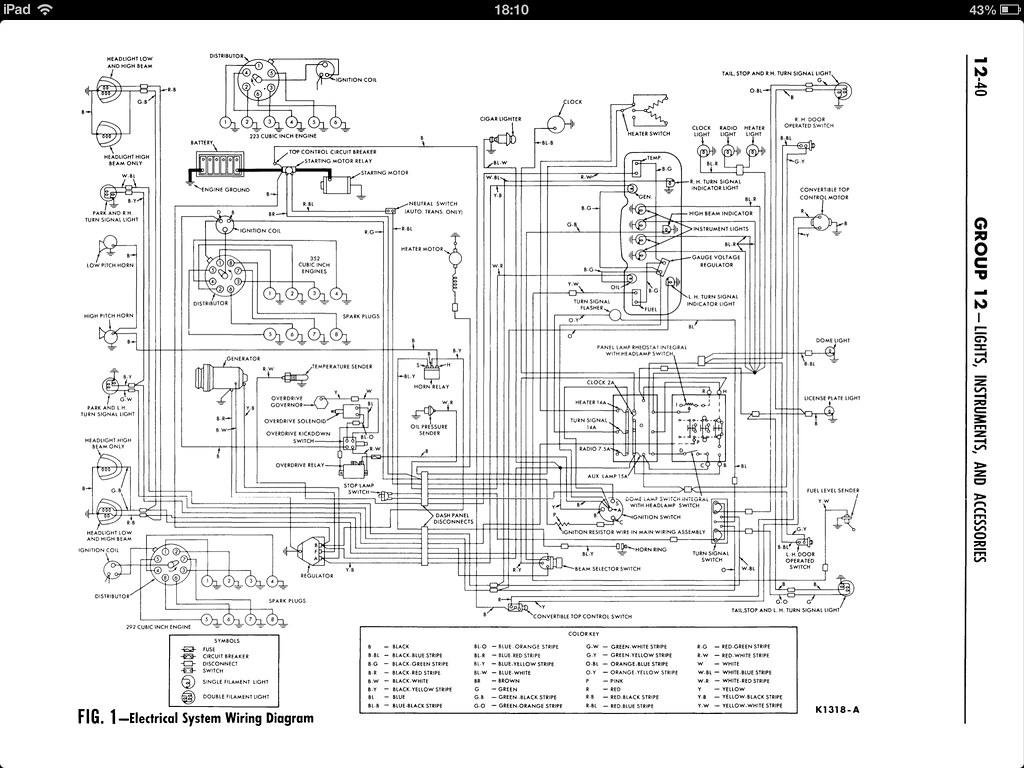 Ford Galaxie Wiring Diagram