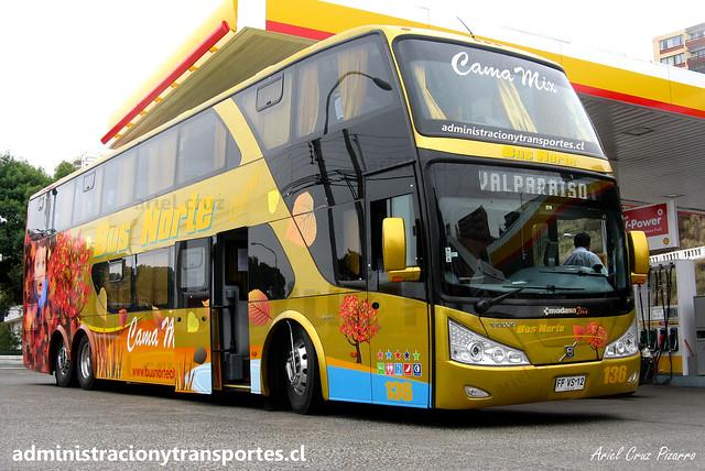 Bus Norte | Valparaíso | Modasa Zeus II - Volvo / FFVS12 - 136
