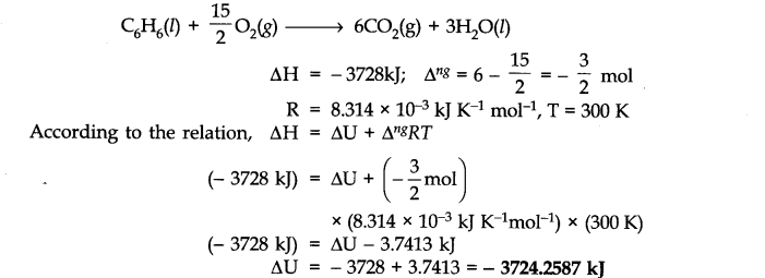 NCERT Solutions for Class 11 Chemistry Chapter 6 Thermodynamics