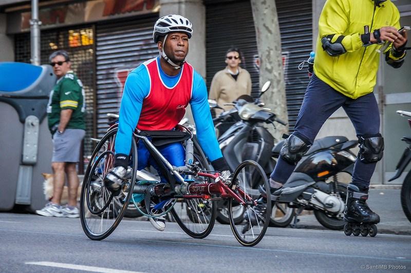 Maratoniano en silla de ruedas