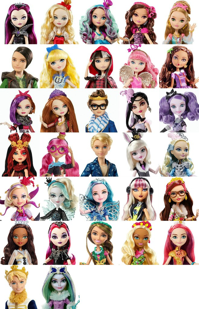 Ever After High List Of All Characters So Far At Least