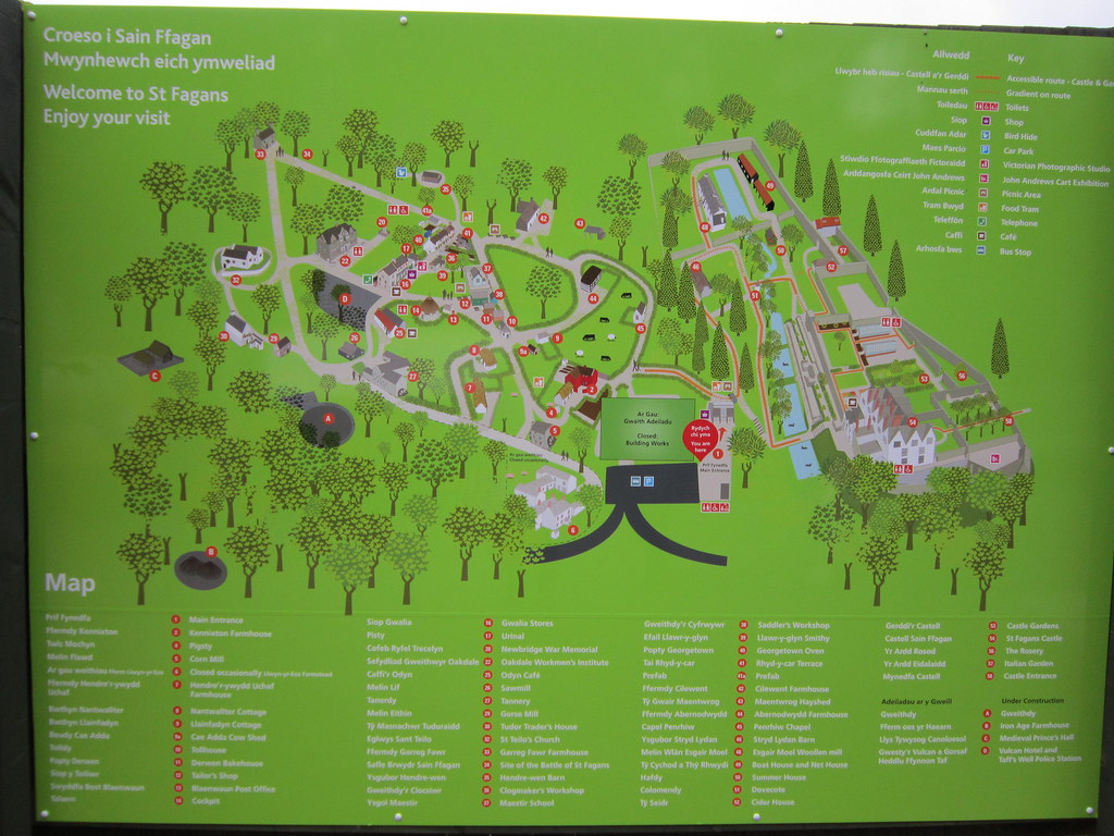 St Fagans Map In Hindsight We Should Have Spent The 30p O Flickr