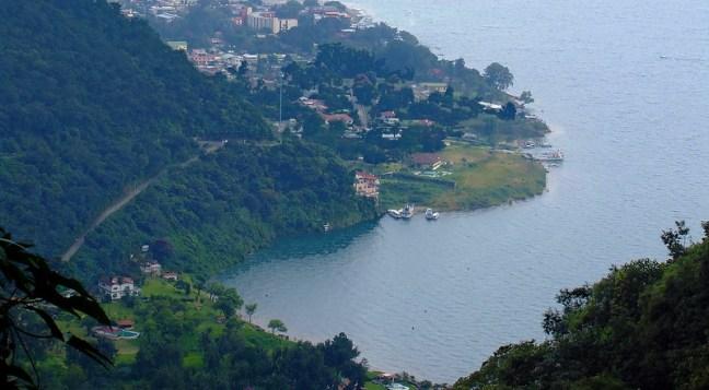 View of San Pedro Lake Atitlán, Sololá, Guatemala