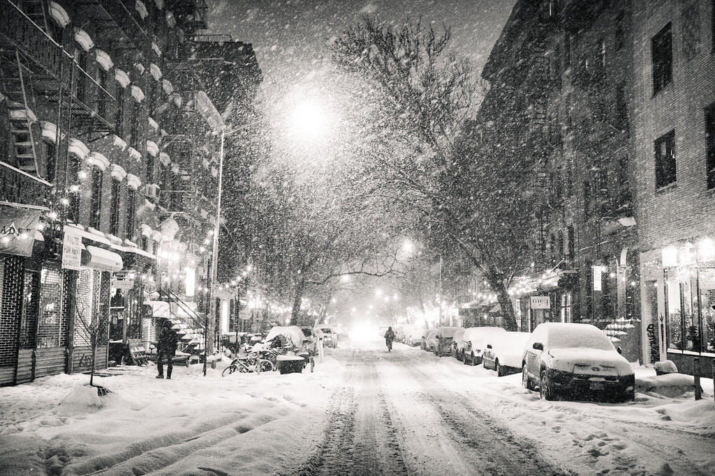 New York City Snowy Night In The East Village May Your