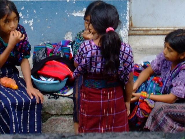 Tsutugil children. Panajachel, Solola, Guatemala
