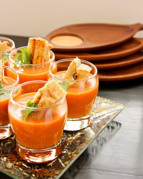 Easy Tomato Soup and Grilled Cheese Crouton