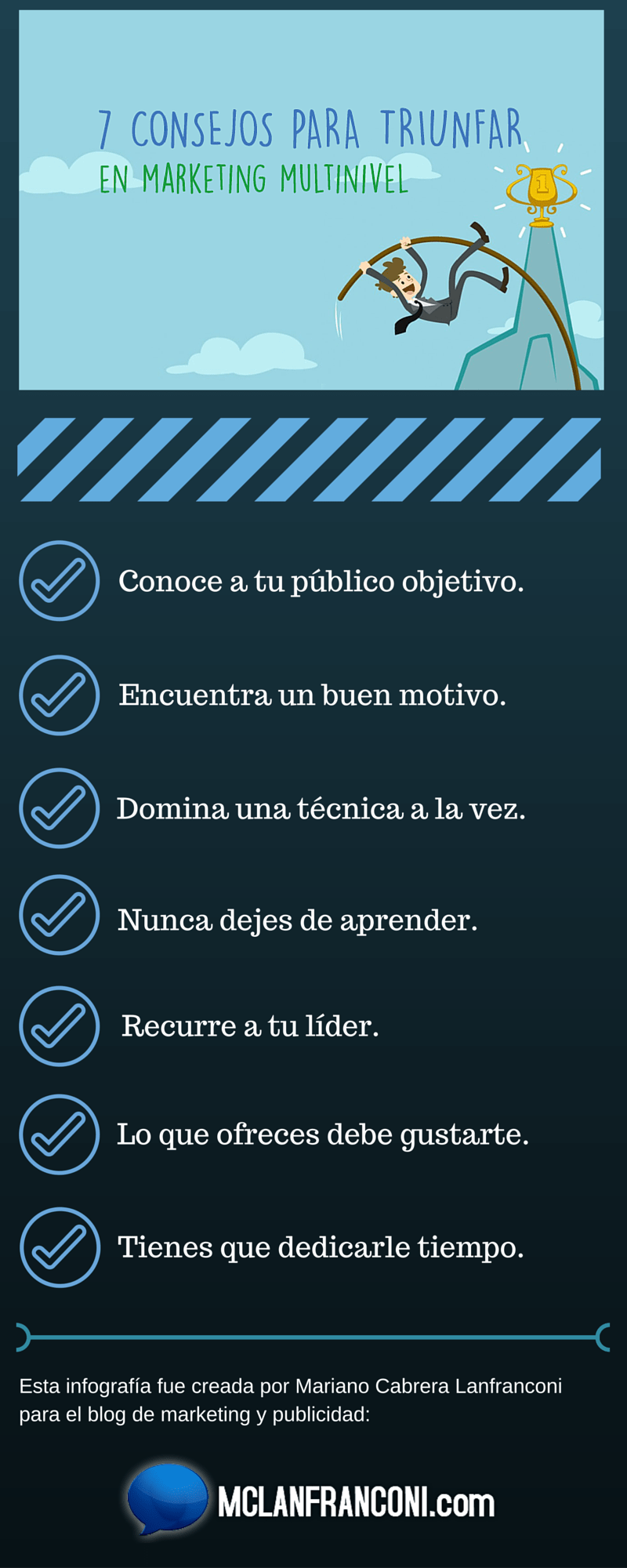 infografia 7 consejos para triunfar con marketing multinivel