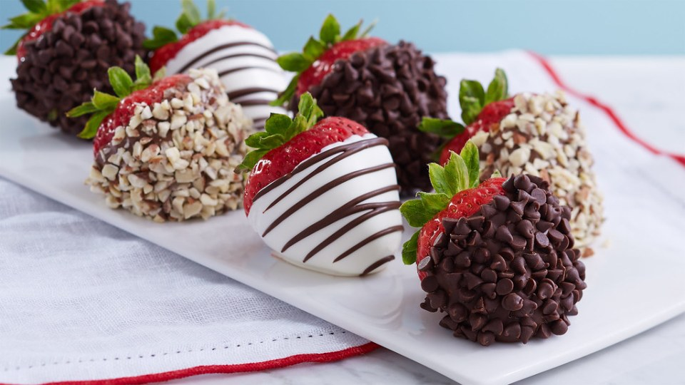 Image result for Shari's Berries dipped strawberries with chocolate chips and nuts flickr