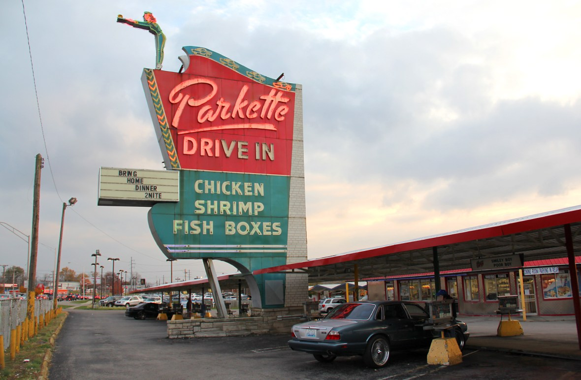 Parkette Drive In - 1230 East New Circle Road, Lexington, Kentucky U.S.A. - November 13, 2014