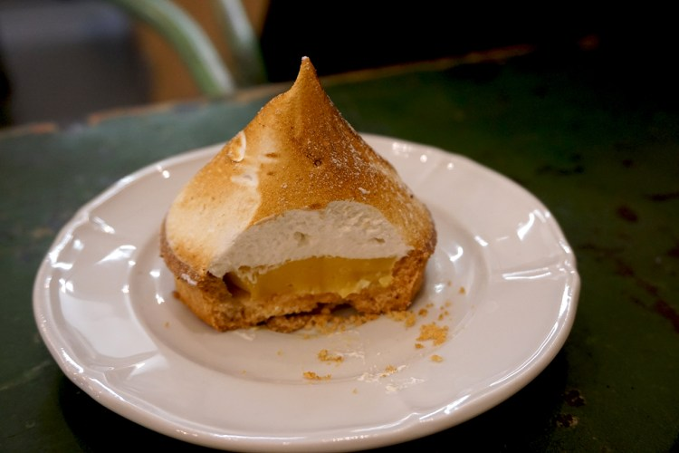 Gluten free lemon tart from Boulangerie Chambelland - gluten free bakery in Paris, France