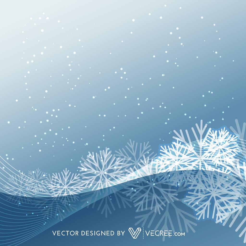 Stylish Snowflakes Background Stylish Snowflakes