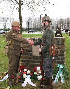 World War 1 Christmas Truce Football Frelinghien Memor