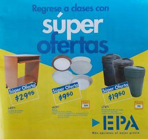 fetured Regreso a Clases con super ofertas EPA el salvador
