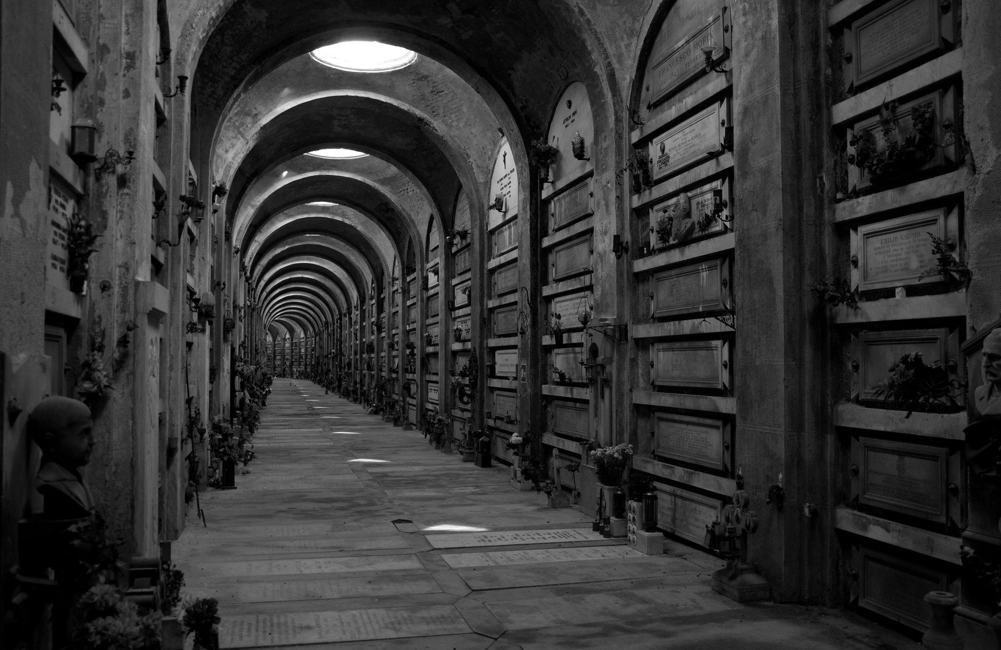 Gallery in Staglieno Cemetery, Genoa
