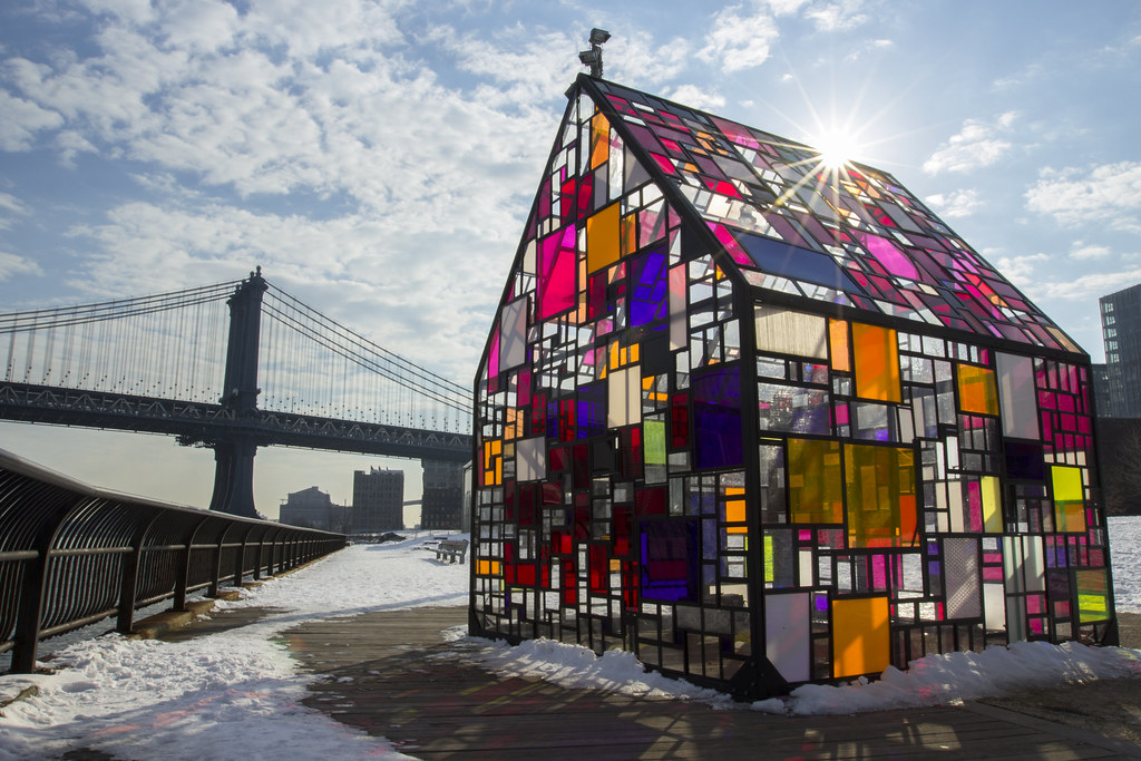 Tom Fruin Stained Glass House Brooklyn Bridge Park Flickr
