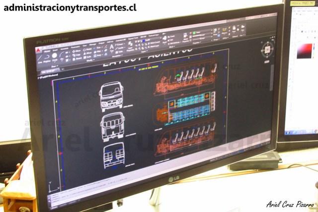 Inrecar S.A | Diseño del bus en 3D (Autocad)
