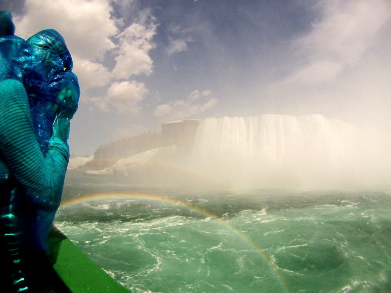 A Rainbow Seen During the Maid of the Mist Experience, Niagara Falls, N.Y., May 2, 2015