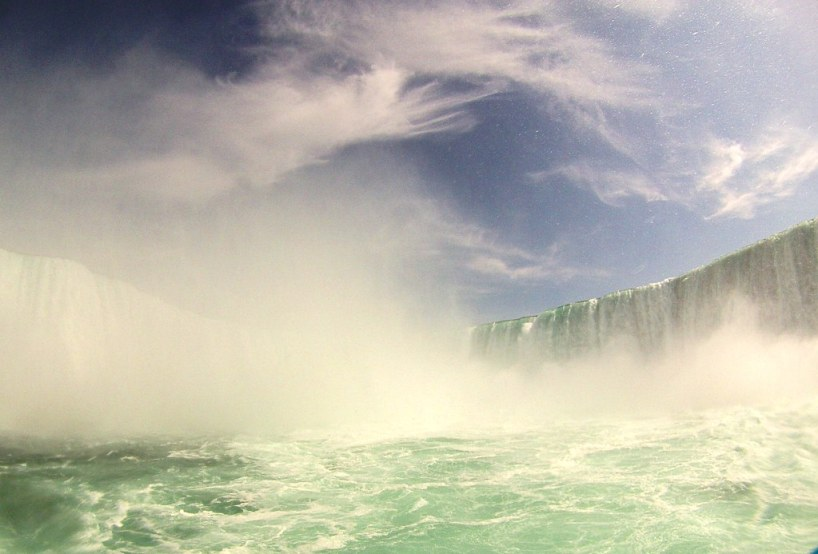 The Canadian Horseshoe Falls as Viewed from Maid of the Mist, May 2, 2015
