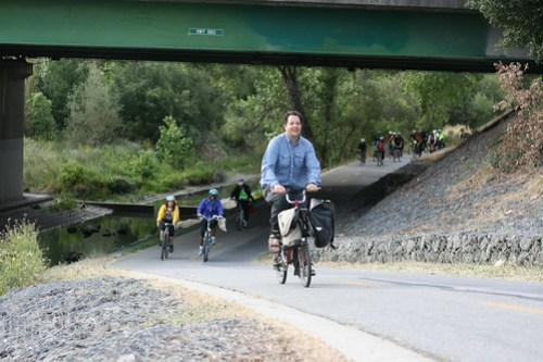 VTA Bike Train 2015 Guadalupe River Trail
