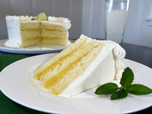 ginger key lime chiffon cake