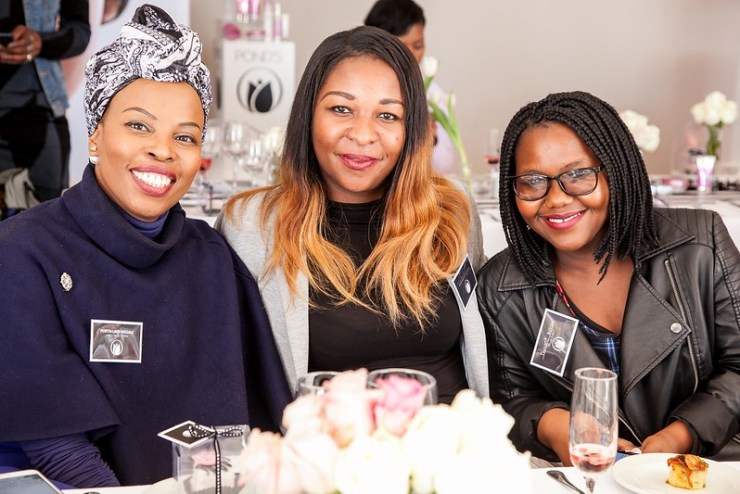 LR Portia Lindi Mogale (Blogger) , Tumelo Muteme and Buhle Mbete (Destiny) Instill Beautiful Skin Habits in your life with PONDS