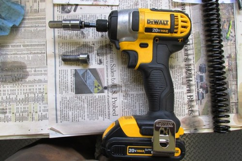 Dewalt Impact Driver Used to Remove Damper Rod Allan Bolt