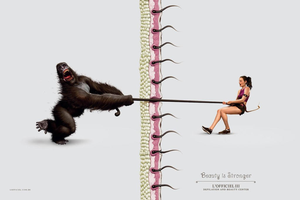 L'Officiel III Depilation and Beauty Center - Beauty is stronger Gorilla