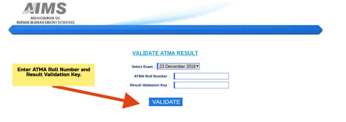 Validate ATMA Result 2019