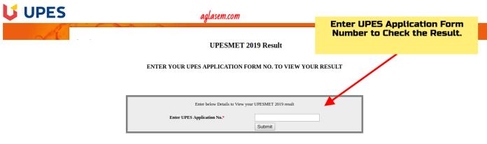 UPESMET 2019 Result