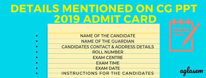 cg ppt 2019 admit card
