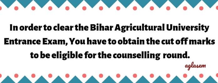 Bihar Agricultural University 2019 Result
