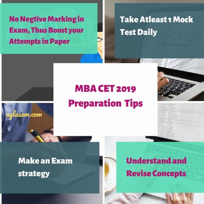MBA CET 2019 5 preparation Exam Tips